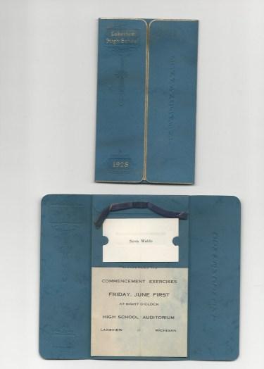 1928 grad invitation