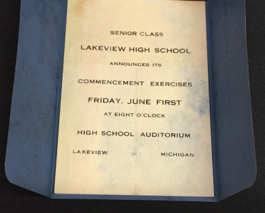 1928 senior class invitation
